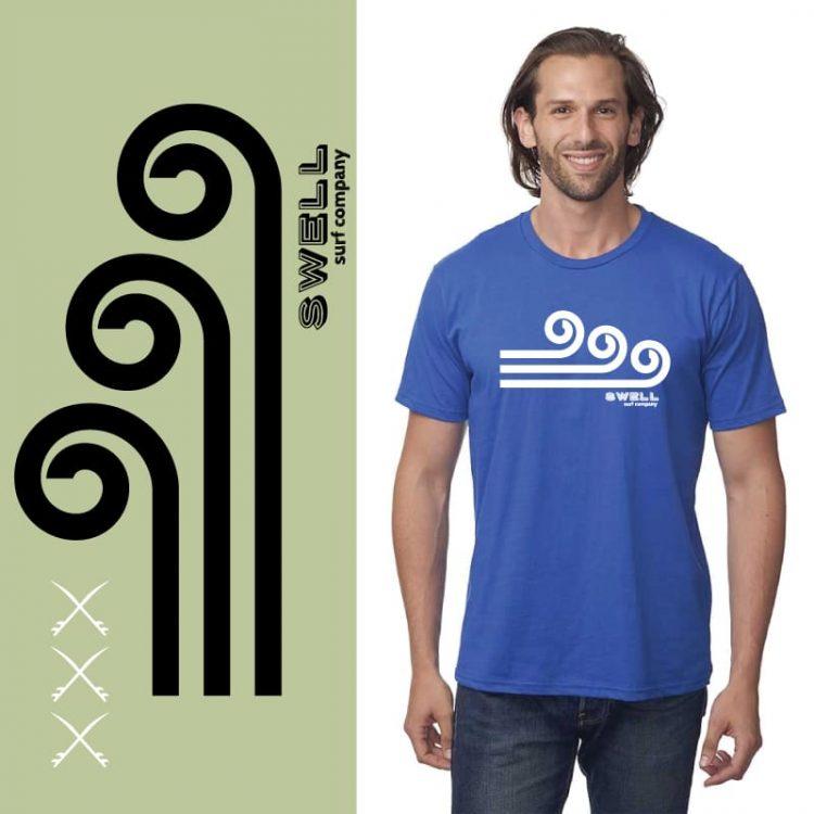 Men's Tshirt - Royal - Swell Logo