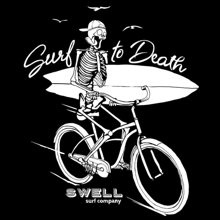 Men's - Black - Surf to Death