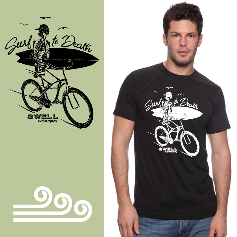 Men's Tshirt- Black - Surf to Death