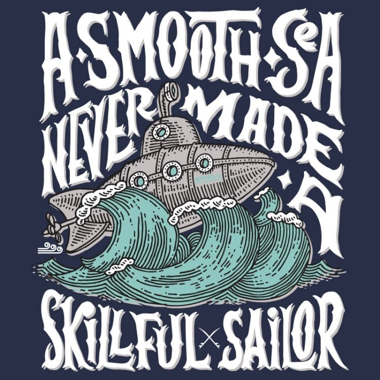 Men's - Navy - A Smooth Sea