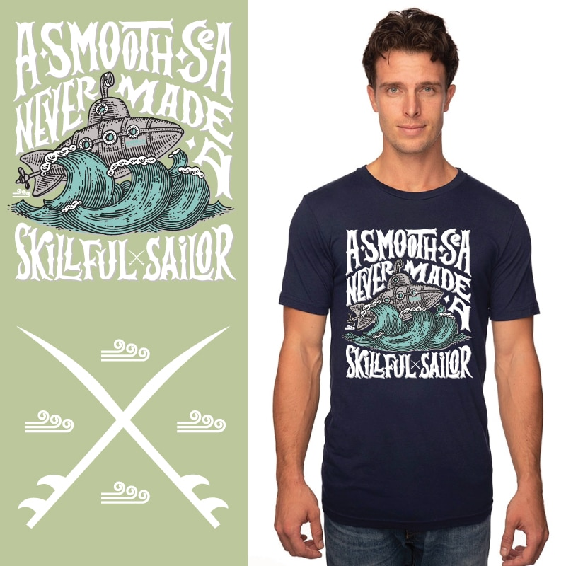 Men's Tshirt - Navy - A Smooth Sea