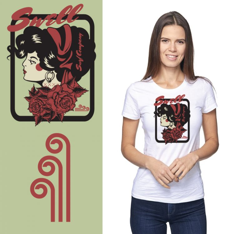 Women's Tshirt - Salt - Surf Tattoo