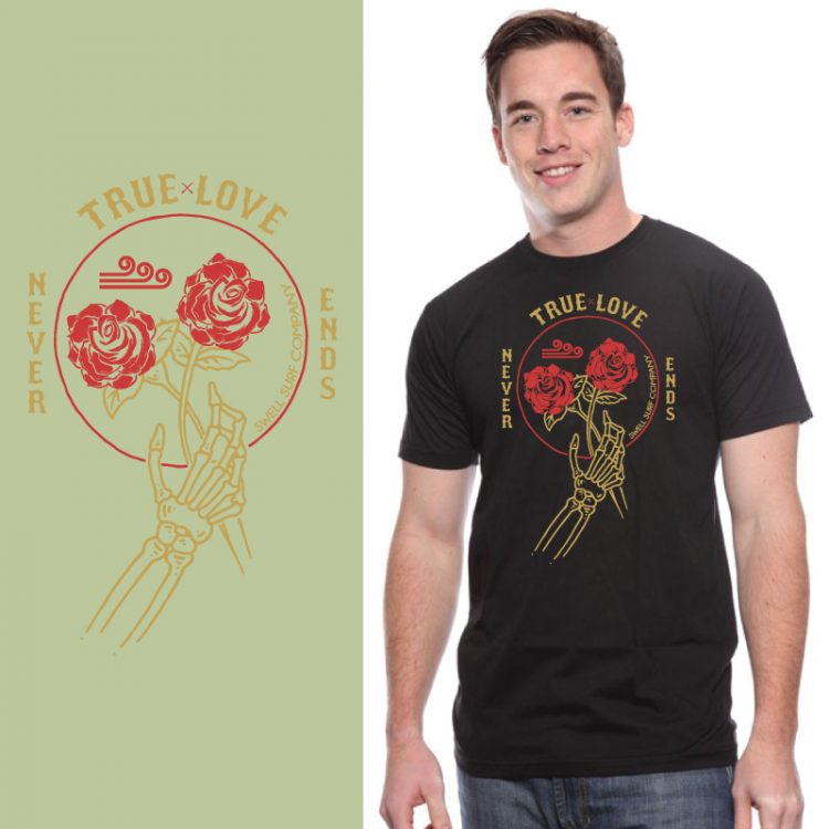Men's Tshirt- Black - True Love