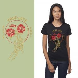 Women's Tshirt - Night - True Love