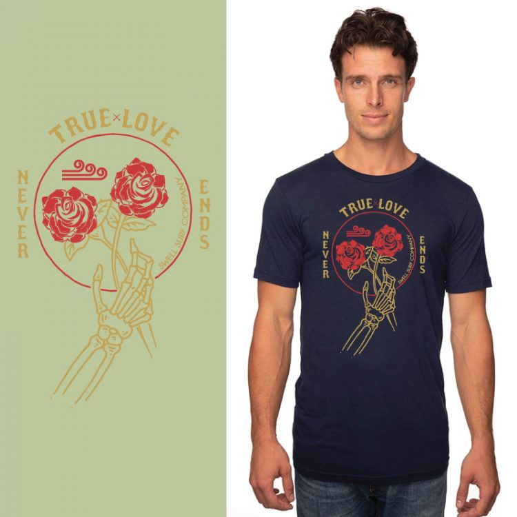 Men's Tshirt- Navy - True Love