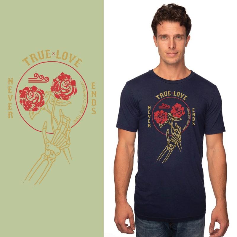 Men's Tshirt- Navy - True Love