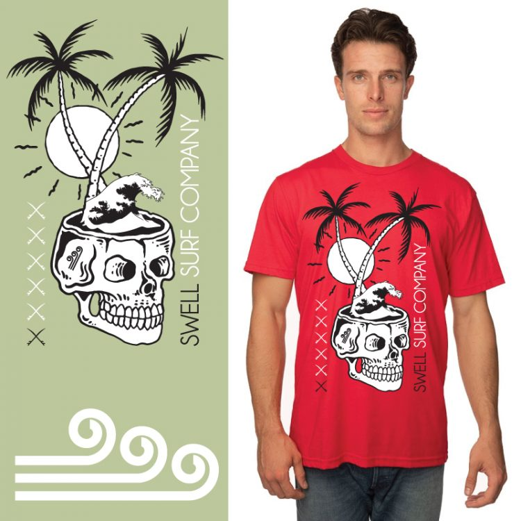 Men's Tshirt - Red - Death is Not The End