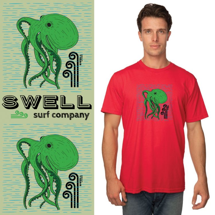 Men's Tshirt - Red - Octo