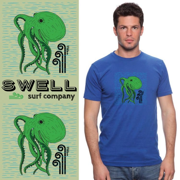 Men's Tshirt - Royal - Octo