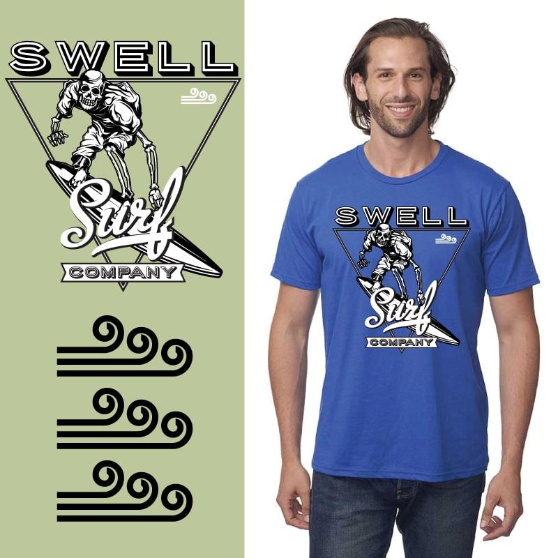 Men's Tshirt - Royal - Surf Triangle