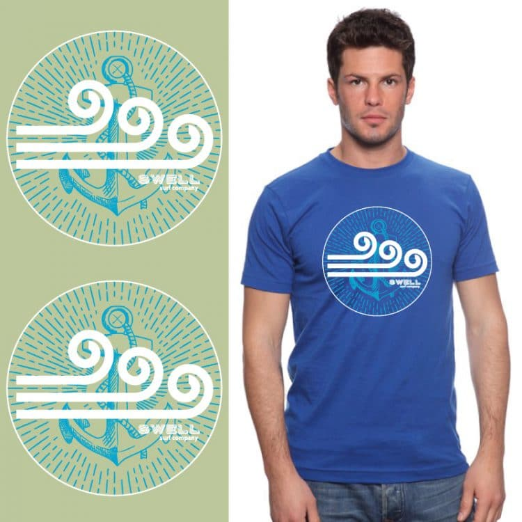 Men's Tshirt - Royal - Swell SC Anchor
