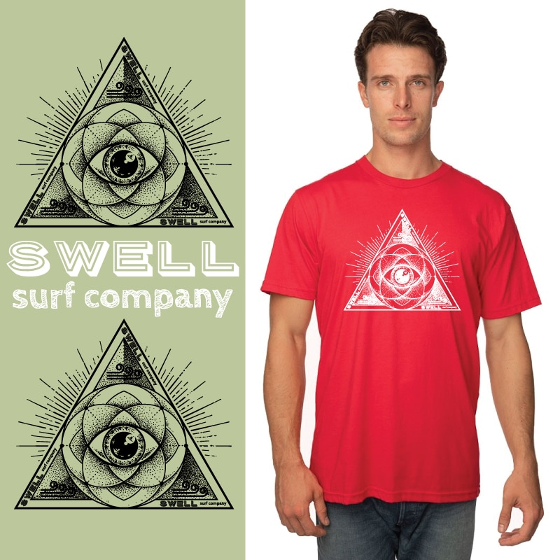 Men's Tshirt - Red - Sacred Surf