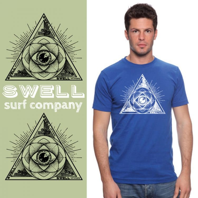 Men's Tshirt - Royal - Sacred Surf