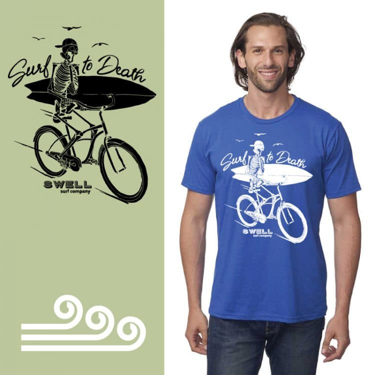 Men's Tshirt - Royal - Surf to Death