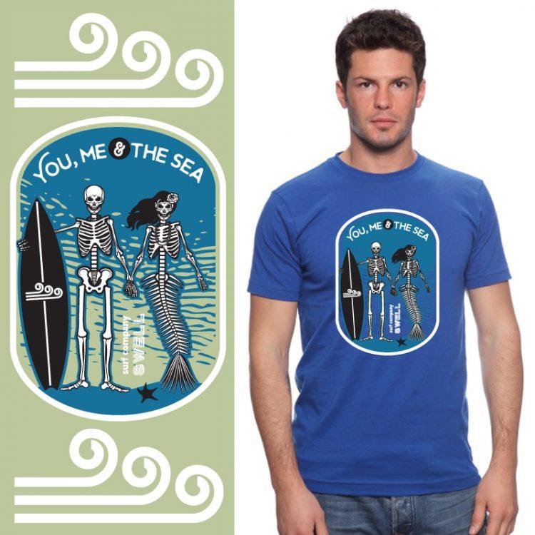Men's Tshirt - Royal - You, Me & the Sea
